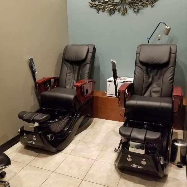 Chairs in the salon.