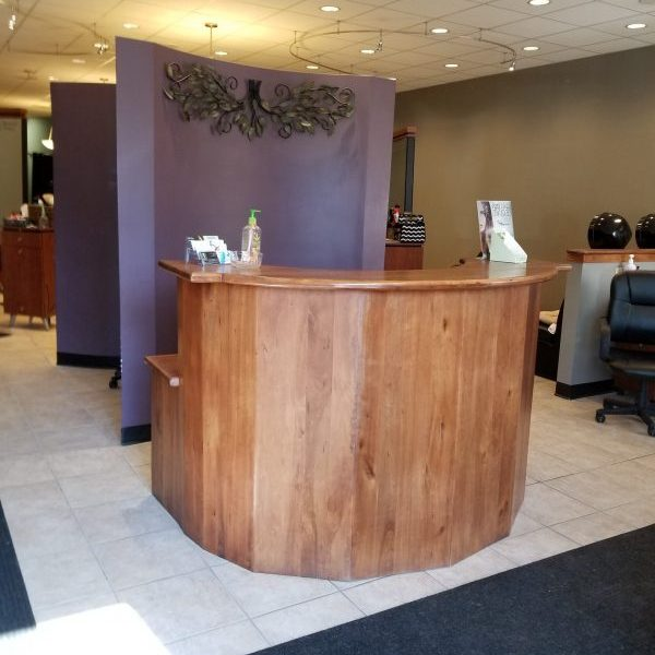 The front desk to the salon.